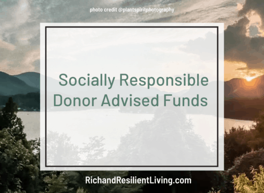 socially responsible donor advised funds